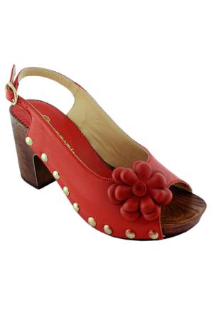 Mammamia D16Ys-1380 Deri Kadın Ayakkabı Kırmızı