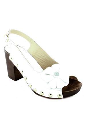 Mammamia D16Ys-1380 Deri Kadın Ayakkabı Beyaz