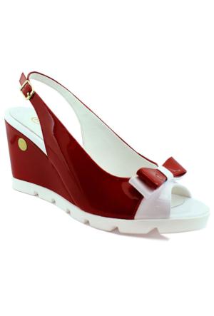 Mammamia D16Ys-1010 Rugan Deri Kadın Ayakkabı Kırmızı