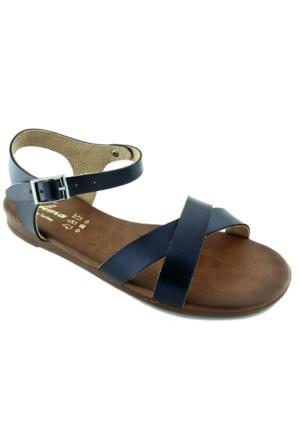 Tofima 4334 Kadın Sandalet Lacivert