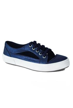 D&T 1348 Keten Kadın Ayakkabı Lacivert