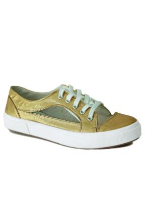 D&T 1348 Keten Kadın Ayakkabı Dore