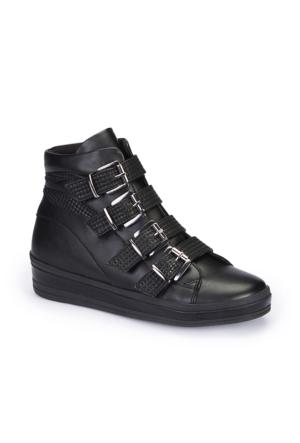 Polaris 62.354223.Z Siyah Kadın Ayakkabı
