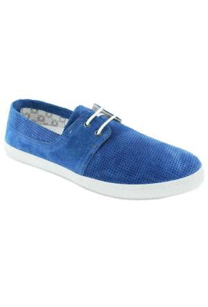 Footcap 8902 Süet Deri Erkek Ayakkabı Mavi