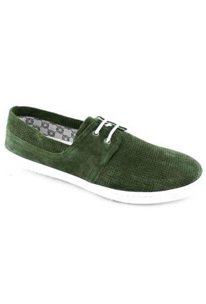 Footcap 8902 Süet Deri Erkek Ayakkabı Haki