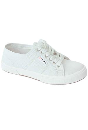 Ottimo 7102 Keten Kadın Ayakkabı Beyaz