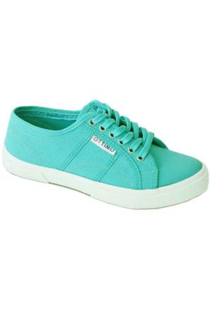 Ottimo 7102 Keten Kadın Ayakkabı Mavi