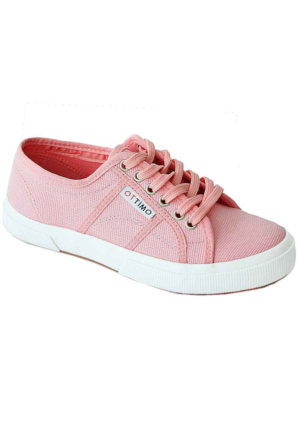 Ottimo 7102 Keten Kadın Ayakkabı Pembe