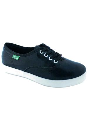 Ottimo 0103 Keten Günlük Kadın Ayakkabı Siyah