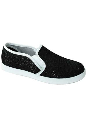 Ottimo 217 Pullu Keten Kadın Ayakkabı Siyah