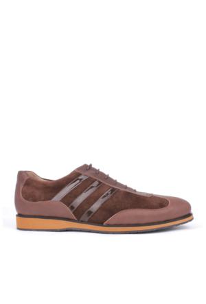 Crunell 012120 027 240 Erkek Kahve Deri Günlük Ayakkabı