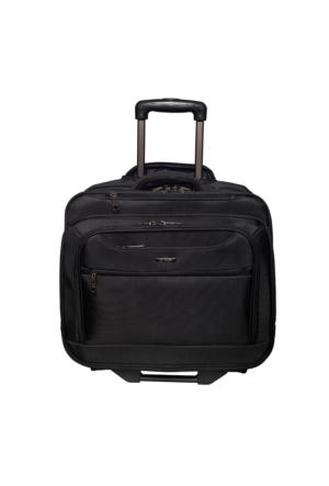Ççs Kumaş Kabin Boy Tekerlekli Laptop Çantası Ççs71305 Siyah