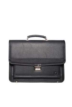 Hard Case Poliüretan Evrak Çantası Hc7104 Siyah