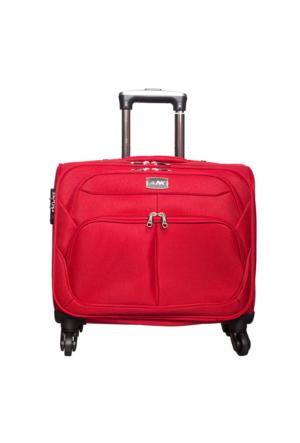 Nk Kumaş Kabin Boy Tekerlekli Laptop Çantası Nk030 Kırmızı