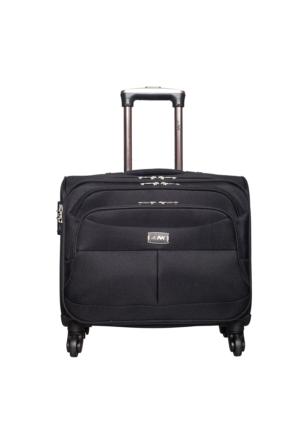 Nk Kumaş Kabin Boy Tekerlekli Laptop Çantası Nk030 Siyah