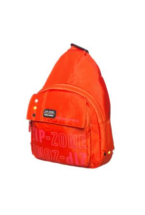 Zip Zone Kumaş Tek Askılı Sırt Çantası Z30863 Turuncu