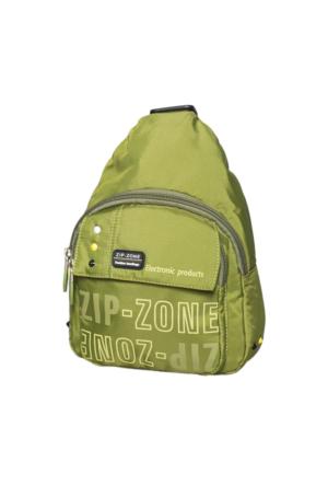Zip Zone Kumaş Tek Askılı Sırt Çantası Z30863 Yeşil