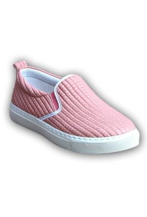 Markazen Desenli Babet Ayakkabı - Pembe