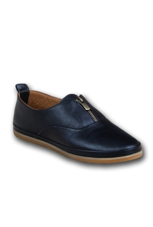 Markazen Fermuarlı Bayan Spor Ayakkabı - Siyah