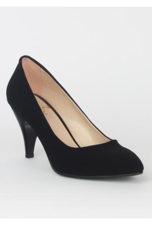 Markazen Stiletto Ayakkabı Süet - Siyah