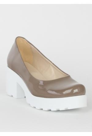 Markazen Bayan Rugan Topuklu Ayakkabı - Vizon