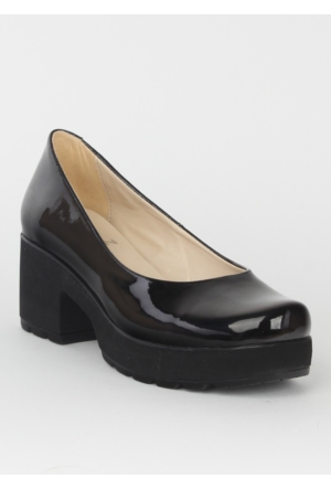 Markazen Bayan Rugan Topuklu Ayakkabı - Siyah