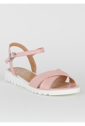 Markazen Bilekten Tokalı Sandalet Ayakkabı - Pembe