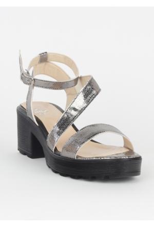 Markazen Tokalı Sandalet Ayakkabı - Lame 01