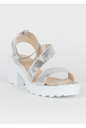 Markazen Tokalı Sandalet Ayakkabı - Lame