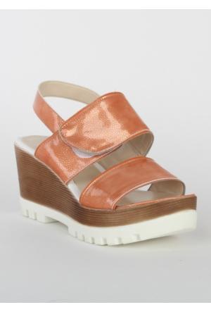 Markazen Bantlı Sandalet - Turuncu