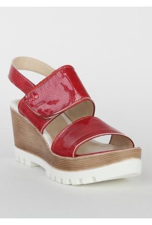Markazen Bantlı Sandalet - Kırmızı