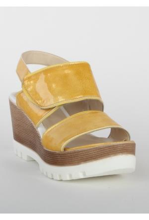 Markazen Bantlı Sandalet - Sarı 01