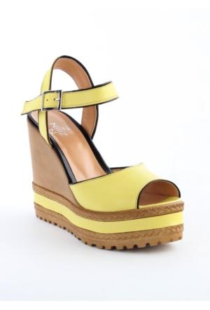 Markazen Dolgu Topuk Bayan Ayakkabı - Sarı