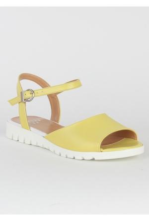 Markazen Bilekten Tokalı Sandalet Ayakkabı - Sarı
