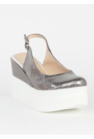Markazen Dolgu Topuk Ayakkabı - Bronz