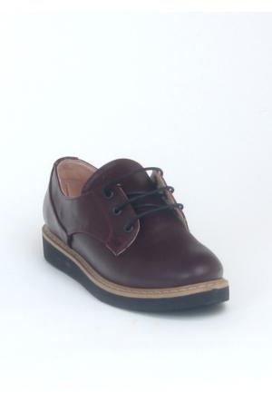 Markazen Oxford Ayakkabı - Bordo 01