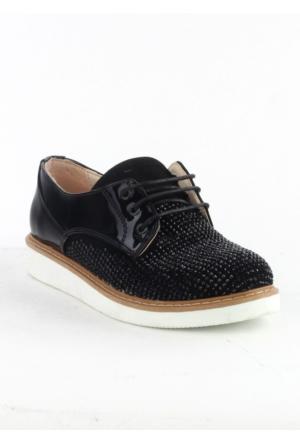 Markazen Taşlı Rugan Spor Ayakkabı - Siyah 03