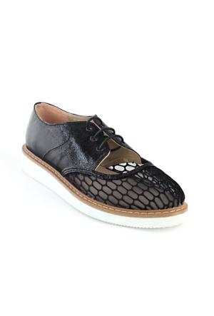 Markazen Fileli Spor Ayakkabı - Siyah