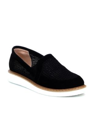 Markazen Eva Taban Fileli Bayan Spor Ayakkabı - Siyah