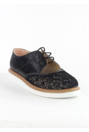 Markazen Fileli Spor Ayakkabı - Siyah 02