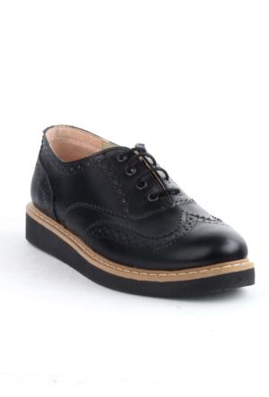 Markazen Oxford Ayakkabı Çift Yüz - Siyah