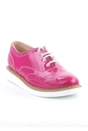 Markazen Oxford Rugan Ayakkabı Çift Yüz - Pembe