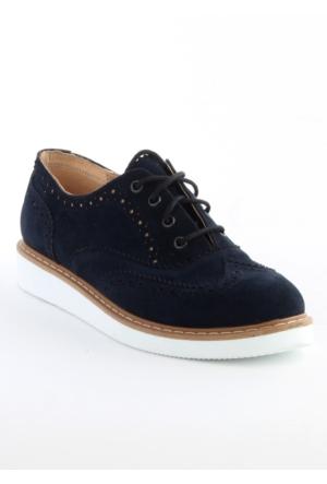 Markazen Oxford Ayakkabı Süet Çift Yüz - Lacivert