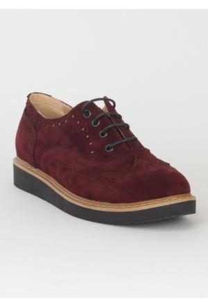 Markazen Oxford Ayakkabı Süet - Bordo