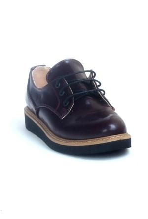 Markazen Oxford Rugan Ayakkabı - Bordo 01