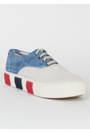 Markazen Bayan Spor Ayakkabı - Beyaz Kot