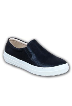 Markazen Simli Babet Ayakkabı - Siyah