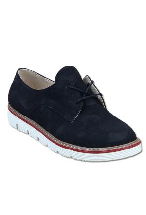 Markazen Desenli Oxford Ayakkabı - Siyah 01