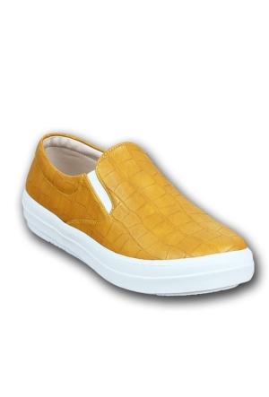 Markazen Desenli Babet Ayakkabı - Taba