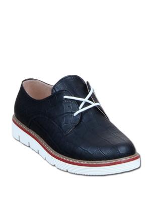 Markazen Baklava Desenli Oxford Ayakkabı - Siyah 01